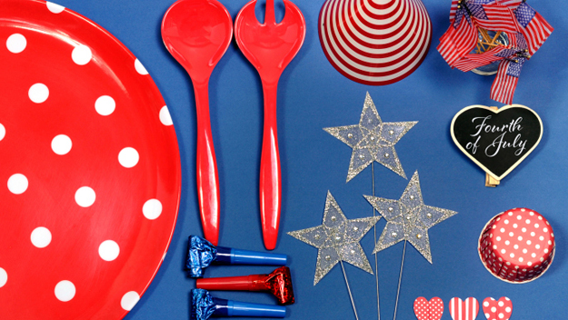 Scavenger Hunt, July 4th, Red White and Blue,